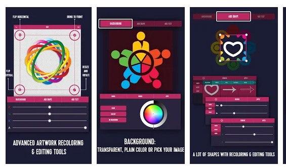 طراحی لوگو با موبایل